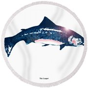 Salar At Sunset Round Beach Towel