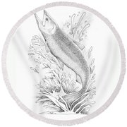 Salmon Round Beach Towel