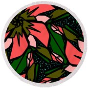 Round Beach Towel featuring the digital art Salmon-pink by Elizabeth McTaggart