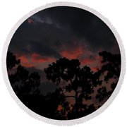 Round Beach Towel featuring the photograph Salmon Sunset by Greg Patzer