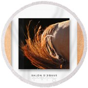 Salon D'equus Dark Round Beach Towel