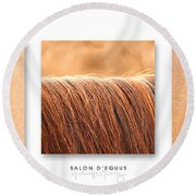 Salon D'equus Light Round Beach Towel