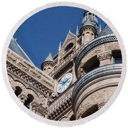Round Beach Towel featuring the photograph Salt Lake City - City Hall - 1 by Ely Arsha