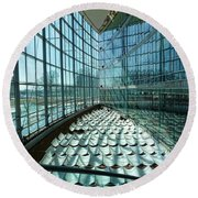 Round Beach Towel featuring the photograph Salt Lake City Library by Ely Arsha