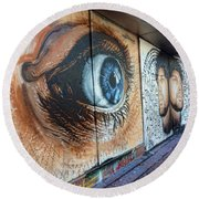 Round Beach Towel featuring the photograph Salt Lake City - Mural 1 by Ely Arsha