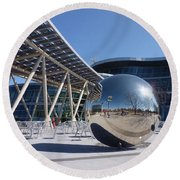 Round Beach Towel featuring the photograph Salt Lake City Police Station - 1 by Ely Arsha