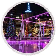 Round Beach Towel featuring the photograph Salt Lake City - Skating Rink - 2 by Ely Arsha
