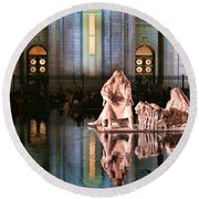 Round Beach Towel featuring the photograph Salt Lake Temple - 2 by Ely Arsha