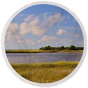 Salt Marsh Morning - Southport Round Beach Towel