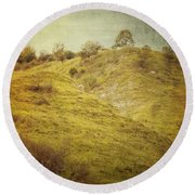 Salt Meadow Mounds Round Beach Towel