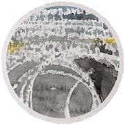 Saltwater- Abstract Painting Round Beach Towel