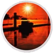 Salty Sunrise Round Beach Towel