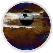 Samhain I. Winter Approaching Round Beach Towel