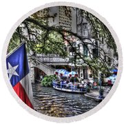 San Antonio Flag Round Beach Towel