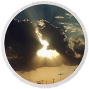 San Antonio Sunset Round Beach Towel by Peter Piatt