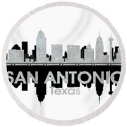 San Antonio Tx 4 Round Beach Towel