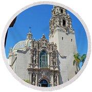 San Diego Museum Of Man Round Beach Towel