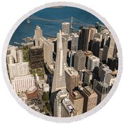 San Francisco Aloft Round Beach Towel