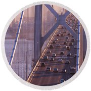San Francisco Bay Bridge Round Beach Towel