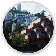 San Francisco Coit Tower At Levis Plaza 5d26188 Round Beach Towel