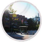 San Francisco Coit Tower At Levis Plaza 5d26189 Round Beach Towel