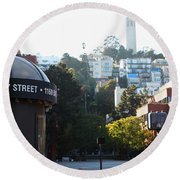 San Francisco Coit Tower At Levis Plaza 5d26212 Round Beach Towel
