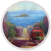 San Francisco Hills Round Beach Towel