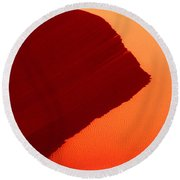 Round Beach Towel featuring the photograph Sand Dune Curves Coral Pink Sand Dunes Arizona by Dave Welling