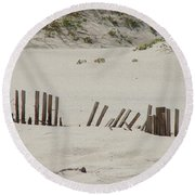 Sand Dunes At Gulf Shores Round Beach Towel