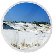 Sand Dunes In A Desert, St. George Round Beach Towel