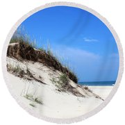 Sand Dunes Of Corolla Outer Banks Obx Round Beach Towel