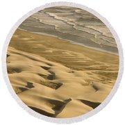 Sand Dunes, Oregon Round Beach Towel