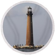 Sand Island Lighthouse - Once 40 Acres Round Beach Towel