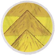 Sand Mountains Round Beach Towel