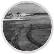 Sand Tracks Round Beach Towel