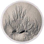 Sand Trails Round Beach Towel