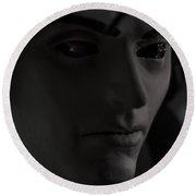 Sandman Portrait - Morpheus Round Beach Towel