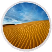 Sands Of Time Round Beach Towel by Darren  White