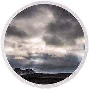 Round Beach Towel featuring the photograph Sands Of Time by Gunnar Orn Arnason