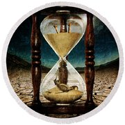 Sands Of Time ... Memento Mori  Round Beach Towel