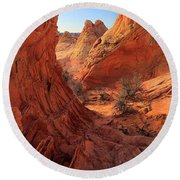 Sandstone Window Round Beach Towel