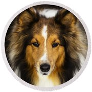 Sandy The Perfect Model Round Beach Towel