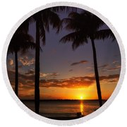 Sanibel Island Sunset Round Beach Towel