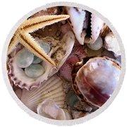 Sanibel Shells Round Beach Towel