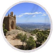 Sant Joan Chapel Spain Round Beach Towel