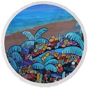 Santa Barbara Beach Round Beach Towel by Barbara St Jean