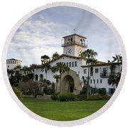Round Beach Towel featuring the photograph Santa Barbara by David Millenheft