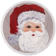 Santa Round Beach Towel