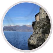 Santa Caterina - Lago Maggiore Round Beach Towel by Travel Pics