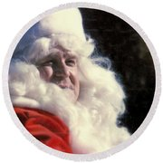 Round Beach Towel featuring the photograph New Orleans Santa Claus John Goodman In Louisiana by Michael Hoard